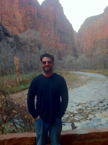 My son Chris, naturally wonderful at Zion