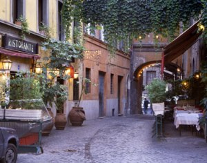 Charming streets of Trastevere