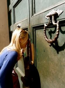 Peeking through the keyhole of the Green Door