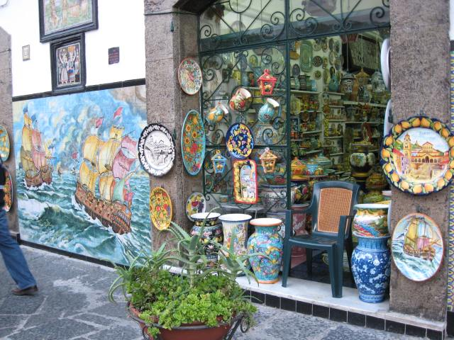 One shop on the main street of Vietri sul Mare