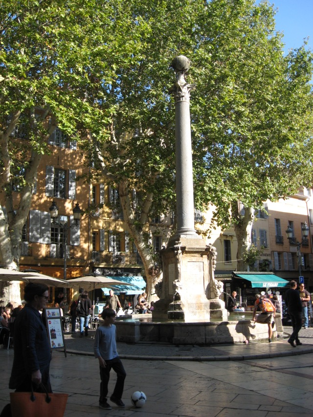 Cafes in the piazza, Aix-en-Provence, October 2013