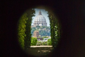 View of St. Peter's through the keyhole