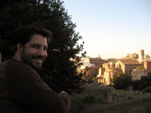 Chris looking out at the Roman forum