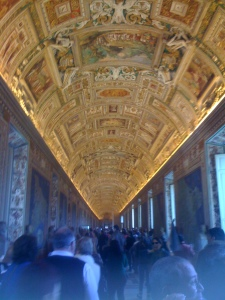 Ceilings of gold, Vatican museum
