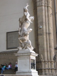"If you can't see David, see the ""Fake David"" or (here) Giovanni Bologna's Rape of the Sabine Women in the Piazza della Signoria, Florence"