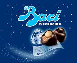"Baci means ""kisses"" in Italian"