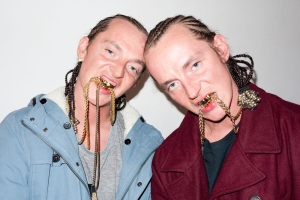 Holy crap! Scary ATL Twins (photo by Terry Richardson). Bet they won't come to Twins Days.