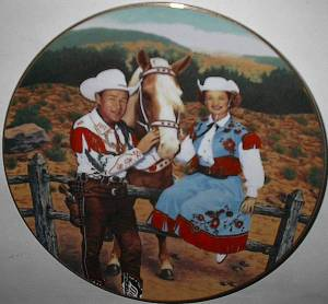 Roy Rogers memorabilia is the focus of the festival. I want this plate!