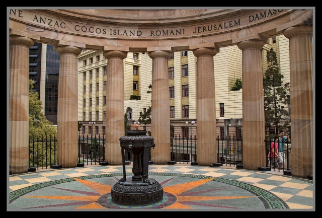 And to visit the ANZAC Square War Memorial and Parkland, dedicated to Australia's military heritage, featuring the Shrine of Remembrance with Eternal Flame. Also included are war memorials, honor rolls, unit plaques, mosaic and soils from WWII cemeteries.