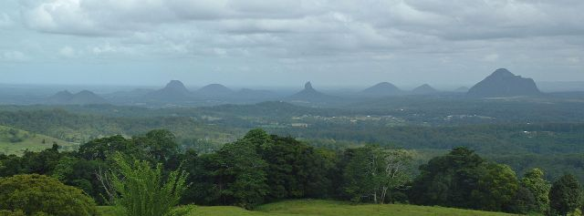 And go to Glass House Mountains National Park - a heritage-listed national park 70 km north of Brisbane. The flat plain is dotted with hills that are the cores of extinct volcanoes that formed about 26 million years ago.