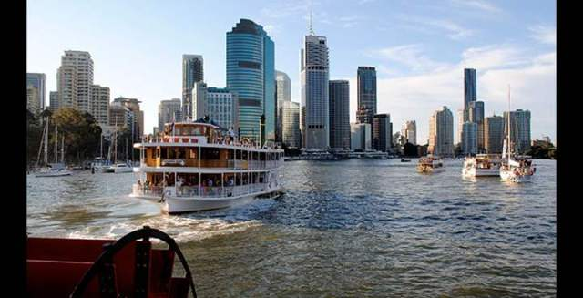 And to take a lunch or dinner cruise on one of the Kookaburra River Queens, authentic timber paddle wheelers that meander along the Brisbane River.