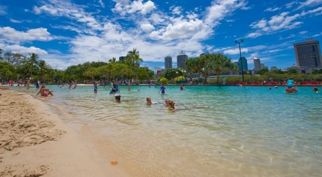 And to see Streets Beach, which is Australia's only inner-city, man-made beach featuring a sparkling lagoon surrounded by white, sandy beaches and sub-tropical plants. Streets Beach is free to the public and is patrolled by qualified lifeguards all year round.