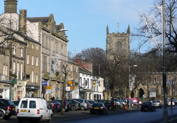 High Street in Skipton, Yorkshire