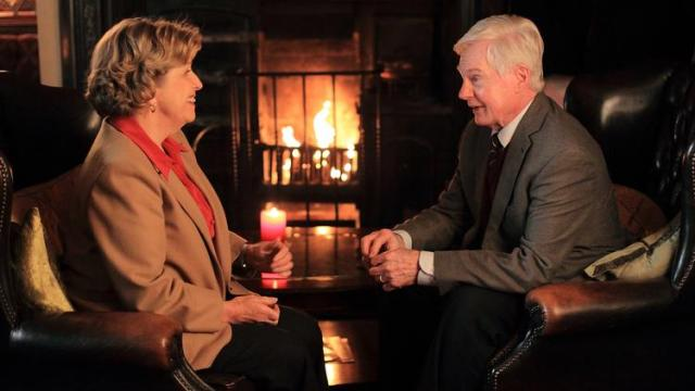 "Alan and Celia reconnect on the delightful BBC series, ""Last Tango in Halifax"""