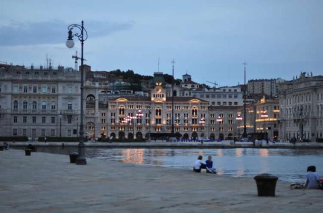 The Italian port city of Trieste, photo from tangoitalia