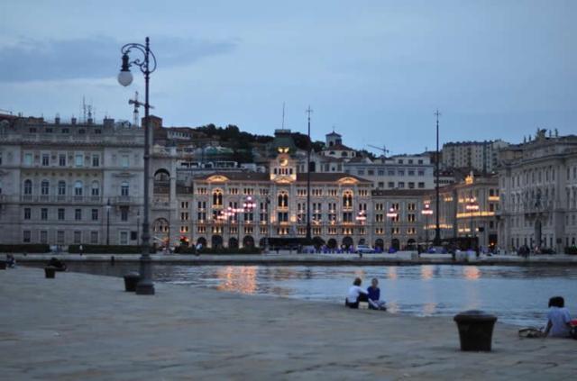 The Italian port city of Trieste, photo from tangoitalia
