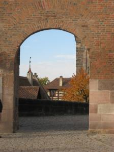 Looking out from atop Nuremburg Castle