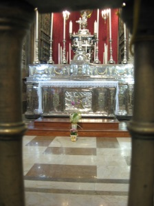 Silver altar in the Palermo Cathedral