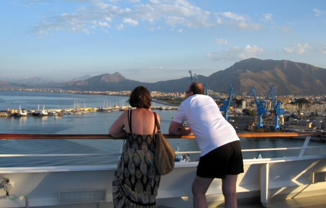 Looking out over the harbor in Palermo, Sicily, on the Costa Serena