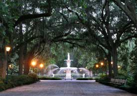 One of Savannah's iconic squares