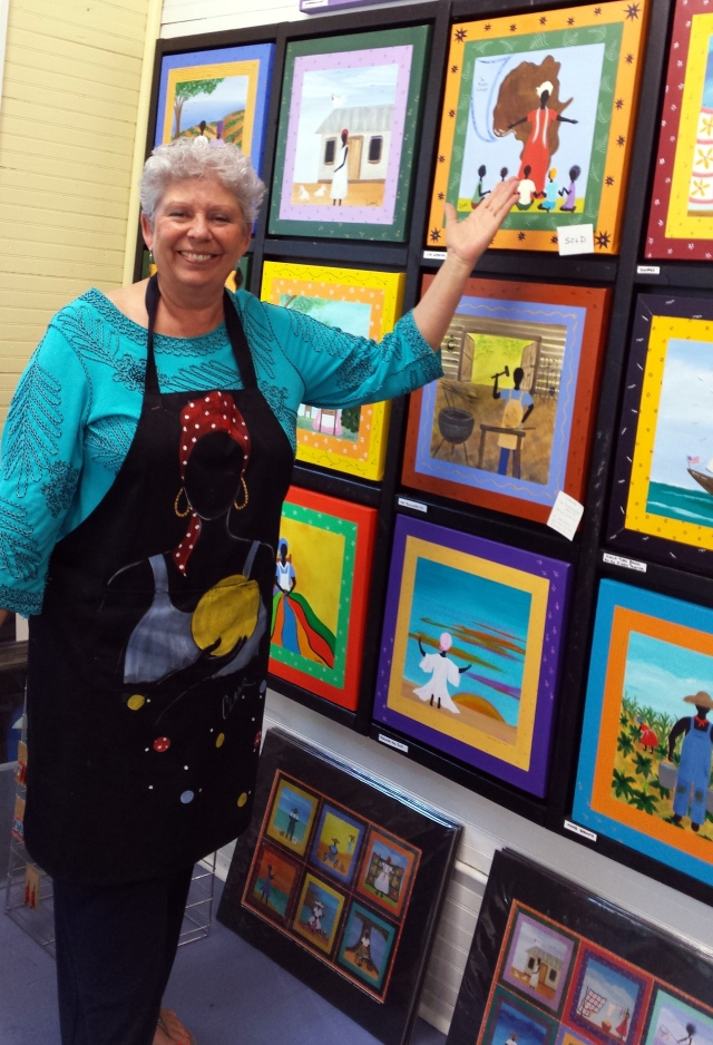 Sam Claar's Gullah art evokes a simpler and time and life by the sea in the storied Low Country.