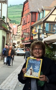 Here I am in Ribeauville, posing with my latest National Geographic Traveler magazine. I have been meaning to send it to the magazine (they asked people to do this). Maybe they will publish mine!
