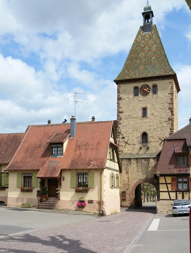 See the arched entrance under the tower? That's the entrance to the old village of Bergheim.