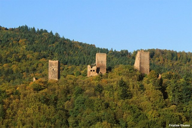 The towers are all that's left of three castles above the village of Eguisheim