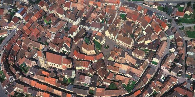 Birds eye view of Eguisheim