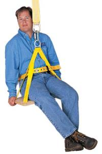 The cheapest seat on Frontier is this one: Five bucks for a swing and harness.