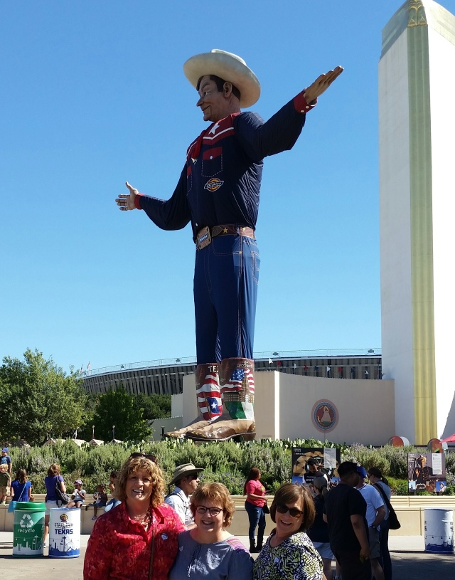 The girls and Big Tex