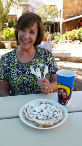 Pretty Patsy and the funnel cake