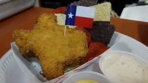 I am hoping to try fried cheese in the shape of Texas next week.