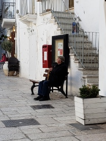 Cisternino man in piazza